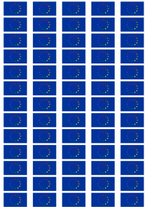 European Gay Pride Flag Stickers - 65 per sheet